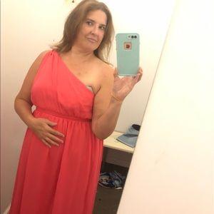 Tevolio One-shoulder Chiffon Dress Size 18w